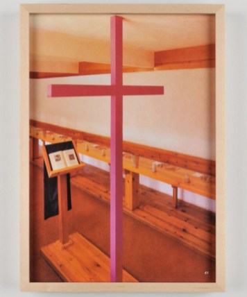 Jill Magid, Refectory Cross (2014), 29 x 18 x 1 cm
