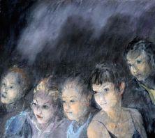 Curtain-up, 2015. Oil on canvas, 41 x 46 cm