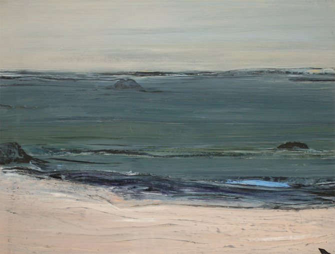 Mary Lohan, Beach, Wexford II, 2012, oil on paper, 46 x 60 cm