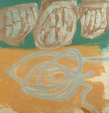 Ceri Richards: Poissons d'or, 1963. Oil on canvas, 127 x 127 cm. Towner