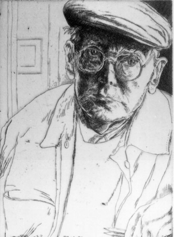 Self-portrait aged 80, 1995