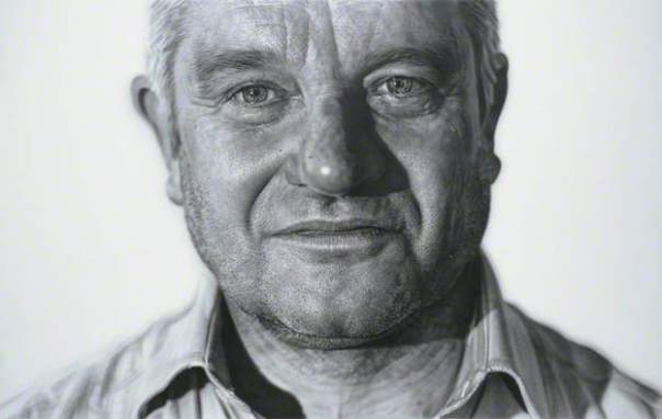 Paul Nurse ('Paul'), 2008. Acrylic on linen, 171 x 271 cm. National Portrait Gallery, London