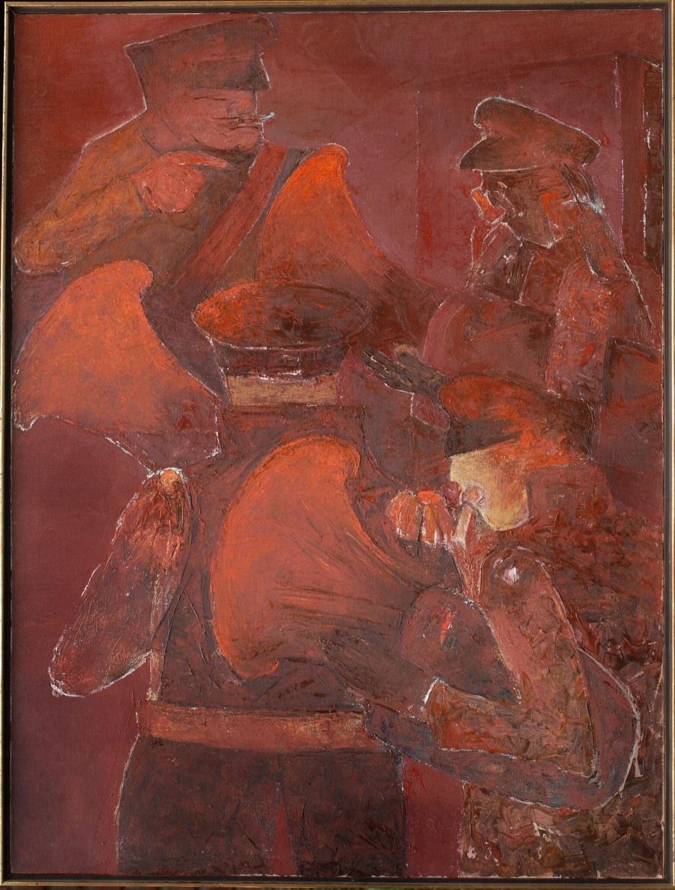 Tuba Players, 2008. Oil on canvas, 121.9 x 91.4 cm. (48 x 36 in.)