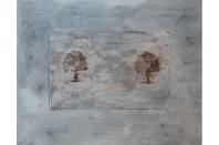 Trees No.3, 2014, mixed media on canvas, 24 x 30 cm