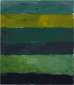 Landline Green Below, 2014. Oil on aluminium, 215.9 x 190.5 cm, 85 x 75 in