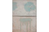 Lotus, 2010, mixed media on canvas, diptych, 24 x 18 cm