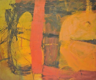 Moving Through, 1960, oil on canvas, 50 x 60 in / 127 x 152.4 cm