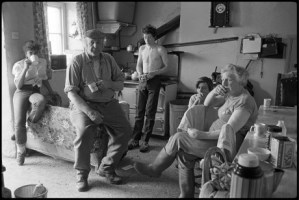 Dick French and family watching the Cup Final, Copyright: Beaford Arts