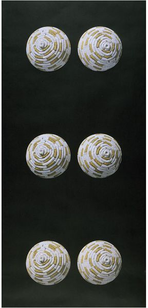 Tits in Space, wallpaper, 2000, screenprint on paper