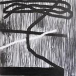 Floored, graphite on paper, 2013, 12x12 cm