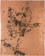 ANDY WARHOL: Oxidation, 1978. Urine on copper foil, 50 1/8 × 39 1/4 inches (127.3 × 99.7 cm)