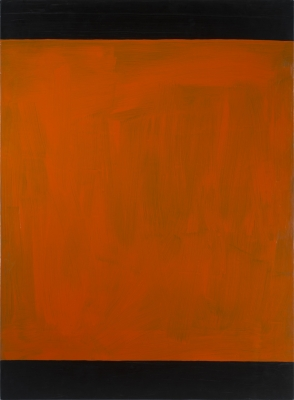 Untitled, 1990. Acrylic on lead laid down on panel, 59 1/16 x 43 5/16 in. (150 x 110 cm)