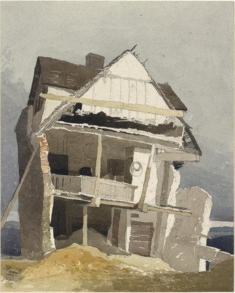 John Sell Cotman: A Ruined House, watercolour over graphite, Ashmolean