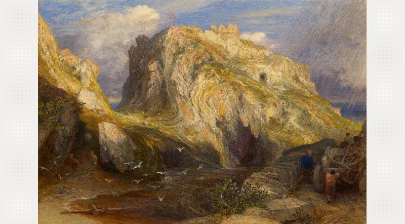 Samuel Palmer: Tintagel Castle: Approaching Rain, c. 1848‒1849