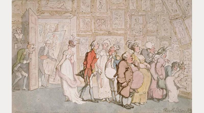 Thomas Rowlandson: The Portrait Painter's Ante-room, 1809