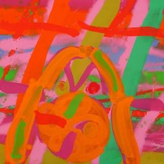 Marigold, 2006, acrylic on canvas, 24 x 24 in / 61 x 61 cm