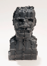 Eduardo Paolozzi, Mondrian Head, 1993, bronze. Wakefield Council Permanent Art Collection.