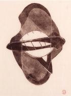 Naum Gabo, Opus 3, 1950, wood-engraving. Courtesy of Alan Cristea Gallery.