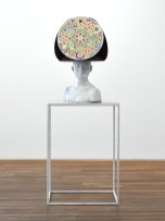 Untitled (Utopian), 2015, bronze, acrylic, card and steel plinth, edition of 2, 76 x 42 x 42 cm