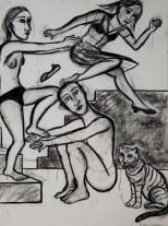 Leap of Faith, charcoal, 2008
