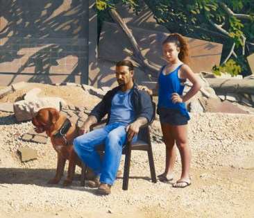 Matan Ben-Cnaan: Annabelle and Guy, 2015. Oil on board, 1195 x 1395mm