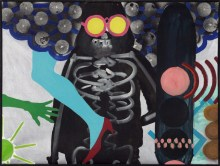Death with Sunglasses, c. 1963. Oil and acrylic on canvas, 91 x 122cm. Andrew Rinkhy/ Kogelnik Foundation Vienna/ New York