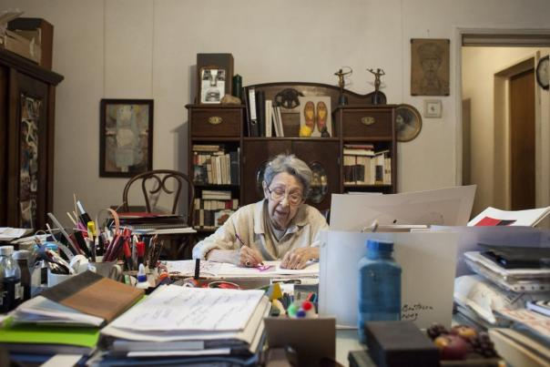 Independent: Geta Bratescu in the studio. Photo: Stefan Sava