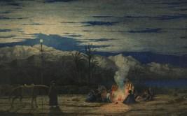 Halt in the Desert (c.1845). Watercolour on paper, British Museum