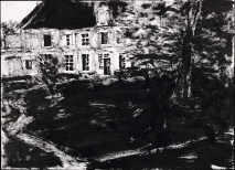 Champrond, 1969. Sumi ink on paper, 24 x 33 cm