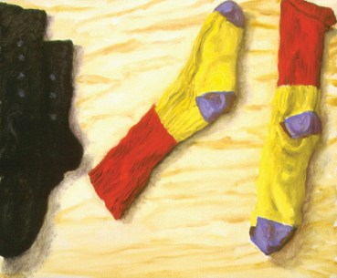 Socks, 1998. Oil on canvas, 38 x 46 cm
