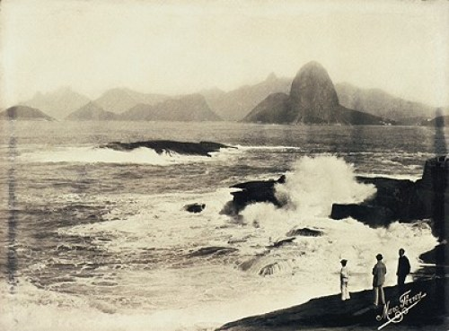 The entrance to Guanabara Bay, seen from Santa Cruz Fort, 1885, photographed by Marc Ferrez