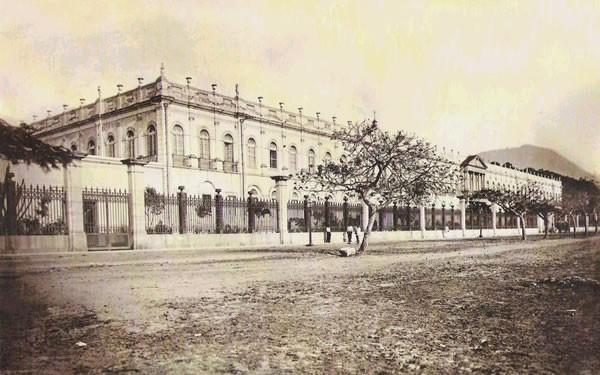 The psychiatric hospital on the Praia das Saudades, 1890