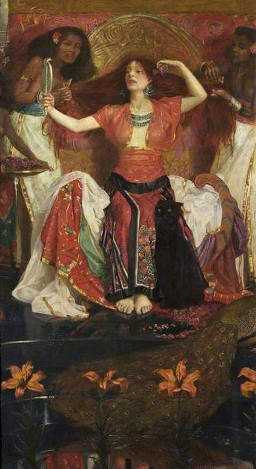 JEZEBEL, 1896 │ Shaw, John Byam Liston (1872–1919) │ Russell-Cotes Art Gallery & Museum; Museum; http://www.artuk.org/artworks/jezebel-58688