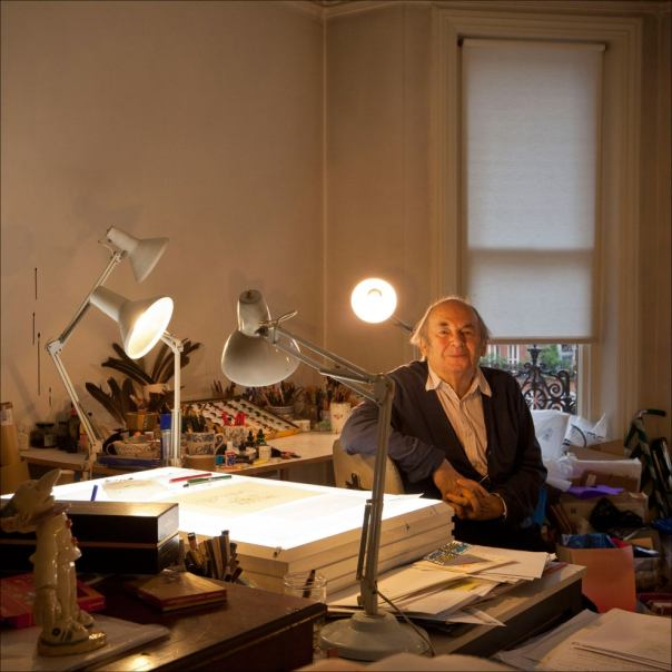 "Independent, 2012: ""In The Studio: Quentin Blake, illustrator."" Photo: David Sandison."