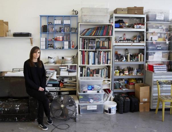 "Independent, 2013: ""In the studio: Anna Barriball."" Photo: Teri Pengilley."