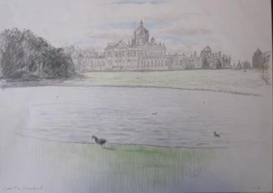 Castle Howard, April 2006, pencil and crayon on paper