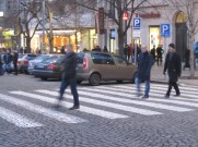 NOT ABBEY ROAD, Mike, Tom and Pete, Václavské náměstí, Prague, January 2015