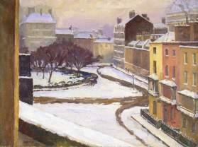 Snow in Hanover Square, Frederick James Porter (1883–1944), 1926