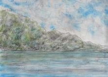 COAST │ August 2016 │ Charcoal and pastels on A3 paper