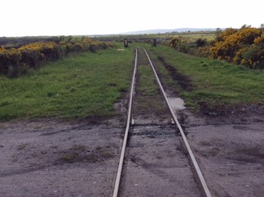 Peat bog railway, looking south
