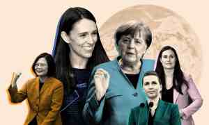 Female leaders around the globe, from left: Taiwan's president, Tsai Ing-wen; New Zealand's prime minister, Jacinda Ardern; the German chancellor, Angela Merkel; Denmark's prime minister, Mette Frederiksen; and Sanna Marin, the Finnish prime minister . Composite: Reuters/Getty/Rex/Shutterstock