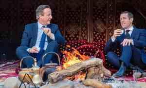 David Cameron and Lex Greensill in Saudi Arabia, January 2020.