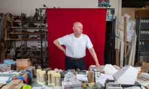 """The Observer, 15 November 2015: """"Richard Deacon, 66: 'I wouldn't like to feel it'd be a failure to stop."""" Photograph: Antonio Olmos."""