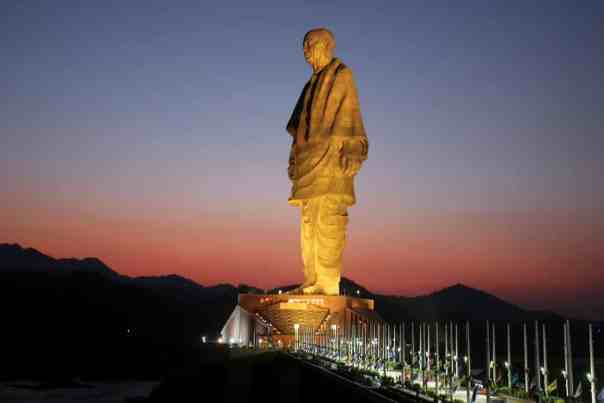 The monumental statue of Vallabhbhai Patel is four times taller than the Statue of Liberty. Photograph: Amit Dave/Reuters