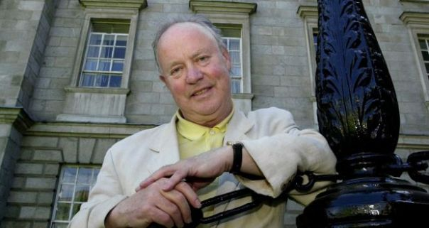Irish Times, 18 October 2021: 'President pays tribute to 'extraordinary' poets Brendan Kennelly and Máire Mhac an tSaoi.' Photograph: Cyril Byrne