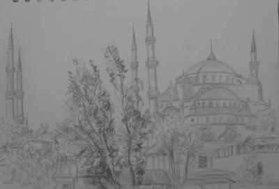 BLUE MOSQUE, ISTANBUL │ May 2009 │ Pencil on A4 paper