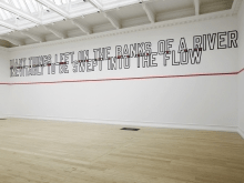 Installation view of ALL IN DUE COURSE, 2014. Photo by Andy Keate.