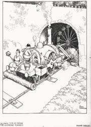 AN EARLY TYPE OF ENGINE FOR CLEANING TUNNELS