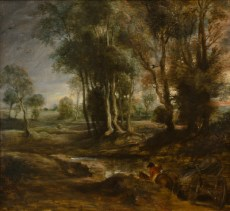 Peter Paul Rubens: Evening Landscape with Timber Wagon, 1630–40
