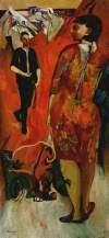 Robert Colquhoun: Encounter, 1942. Oil on canvas, 97.5 x 47 cm. Glasgow Museums